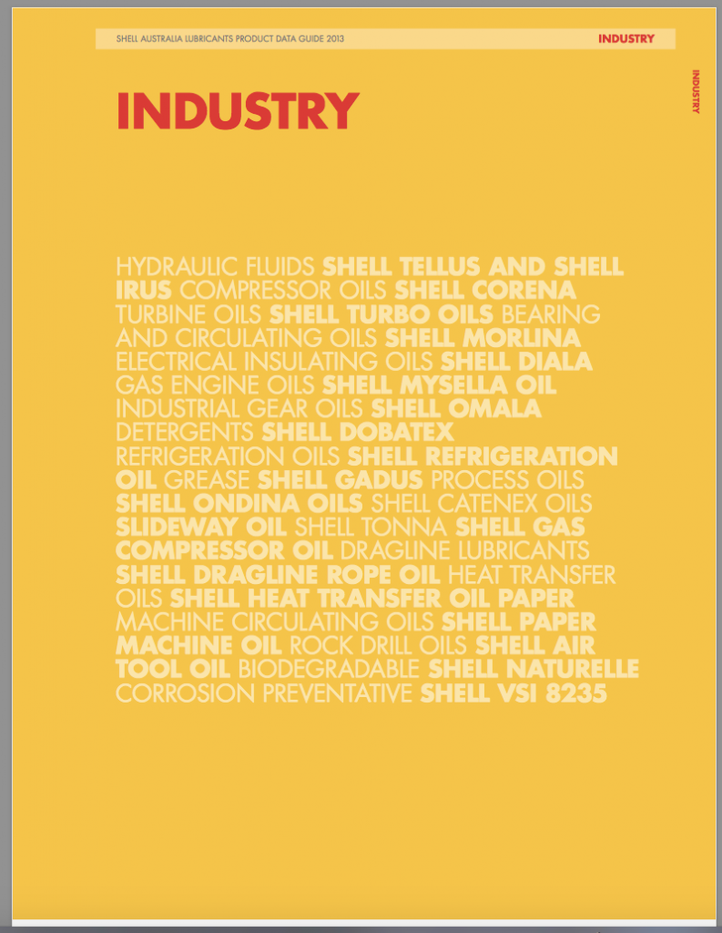 Shell Product data guide industry