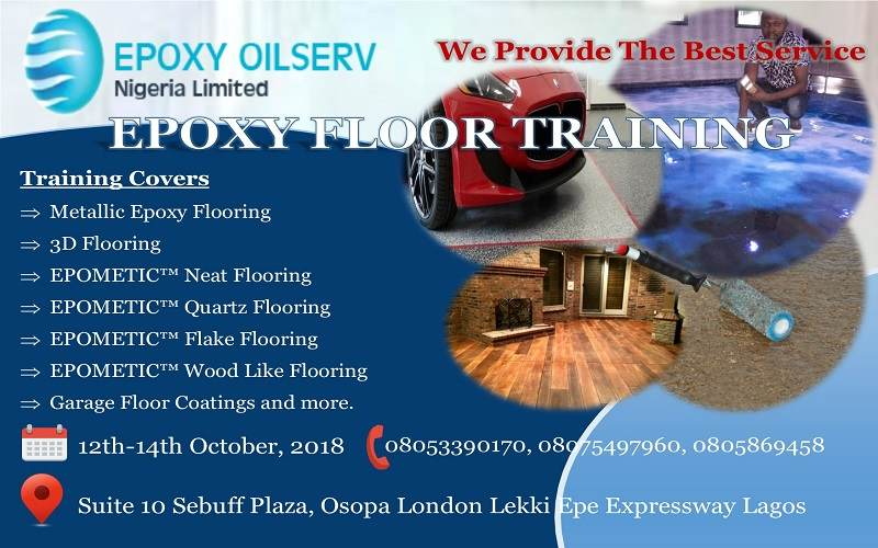 3D Epoxy Floor Training live in lagos