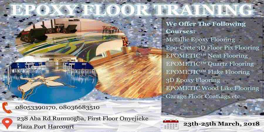 3D Epoxy Floor Training in Port Harcourt now on