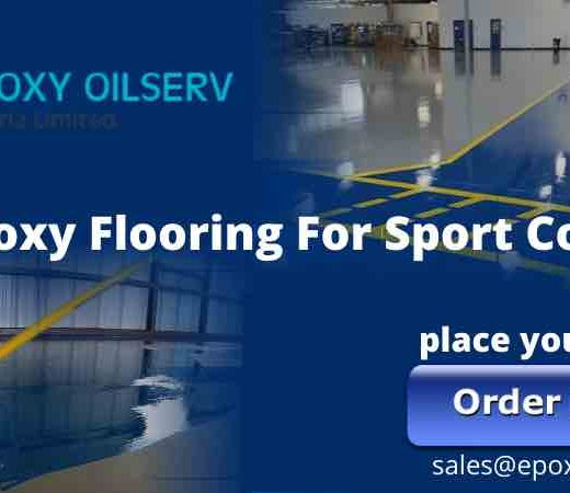 Epoxy flooring for sports court